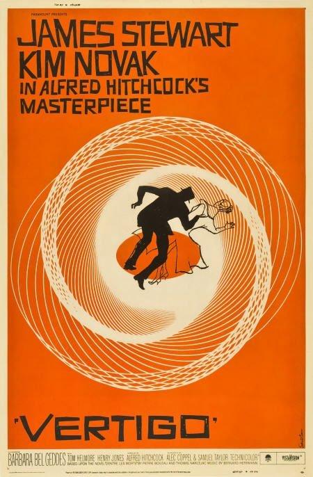 """85019: Vertigo (Paramount, 1958). Poster (40"""" X 60"""")."""