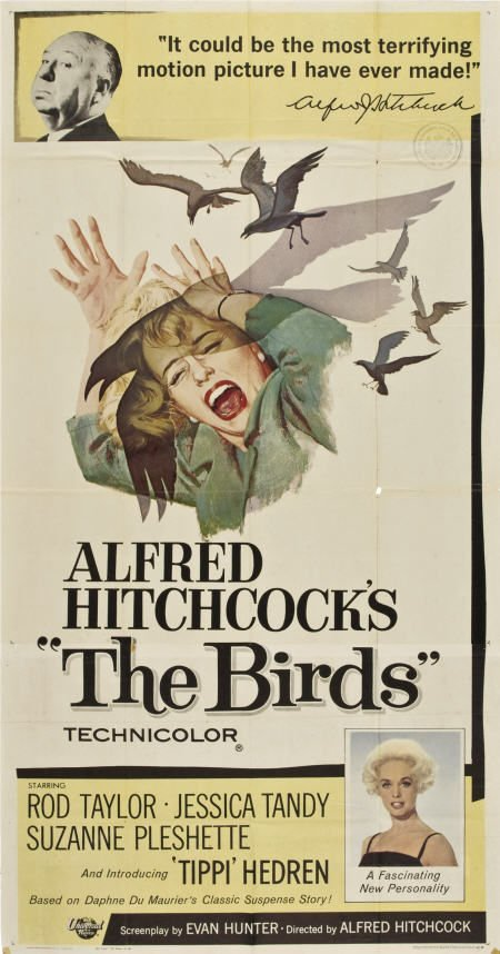 "85021: The Birds (Universal, 1963). Three Sheet (41"" X"