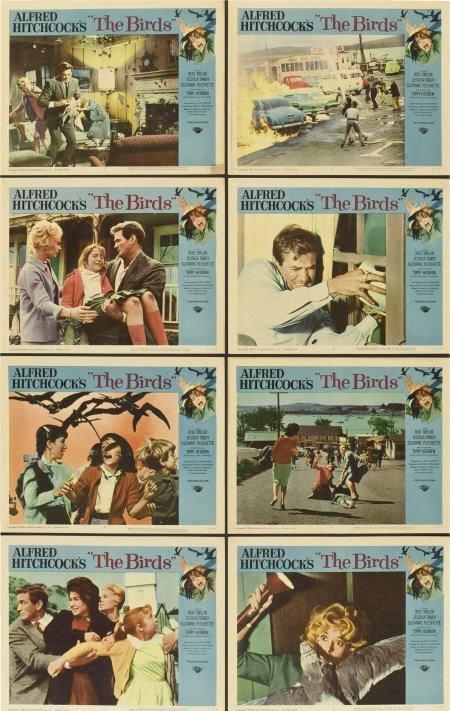 85022: The Birds (Universal, 1963). Lobby Card Set of 8