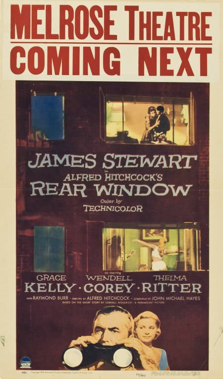 "85023: Rear Window (Paramount, 1954). Window Card (14"""