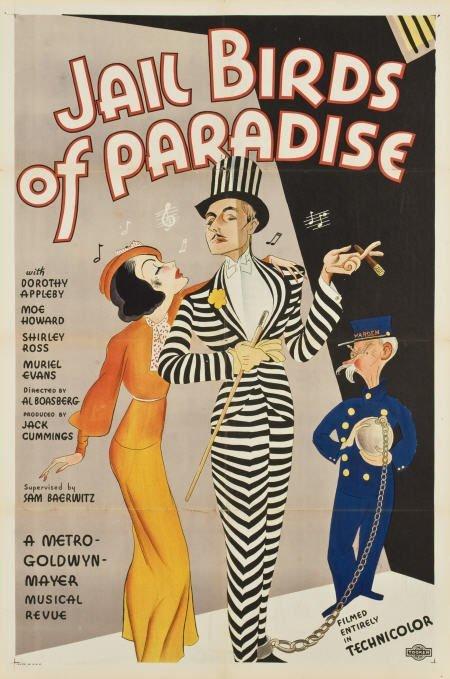 85238: Jail Birds of Paradise (MGM, 1934). One Sheet