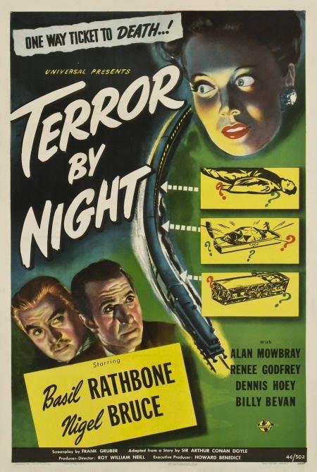 85369: Terror By Night (Universal, 1946). One Sheet