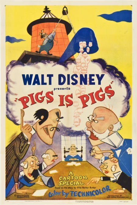 "85739: Pigs is Pigs (RKO, 1954). One Sheet (27"" X 41"")."