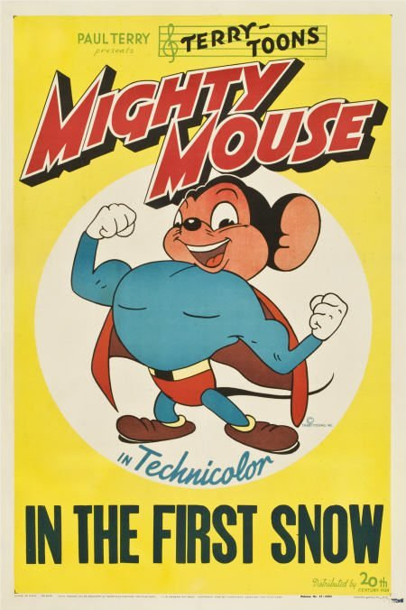 "85740: Mighty Mouse ""In the First Snow"" (20th Century"