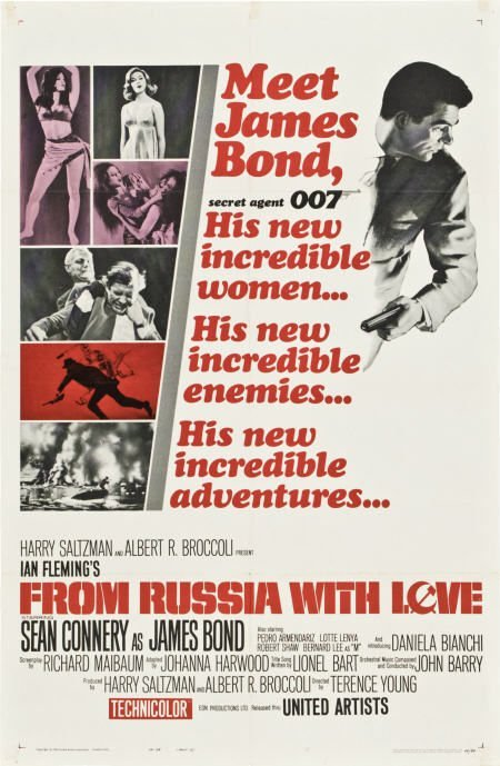 85744: From Russia with Love (United Artists, 1964).