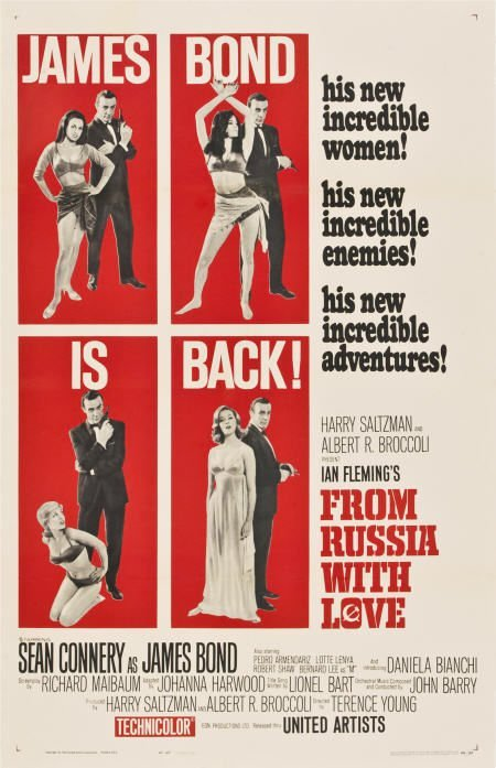85746: From Russia with Love (United Artists, 1964).