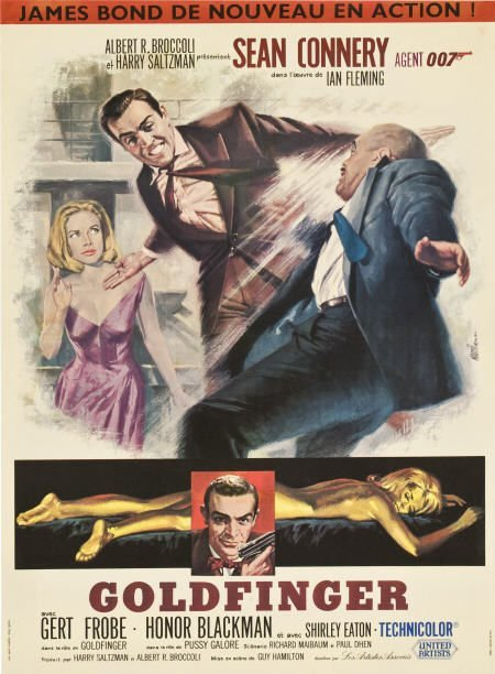 85747: Goldfinger (United Artists, 1964). French Petite