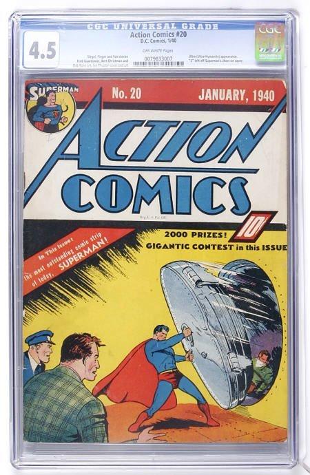 91001: Action Comics #20 (DC, 1940) CGC VG+ 4.5