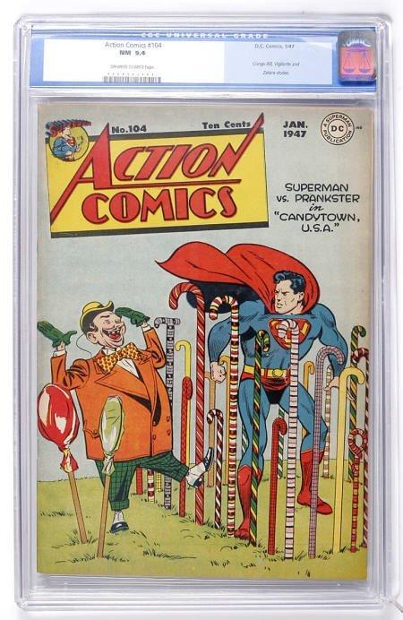 91002: Action Comics #104 (DC, 1947) CGC NM 9.4