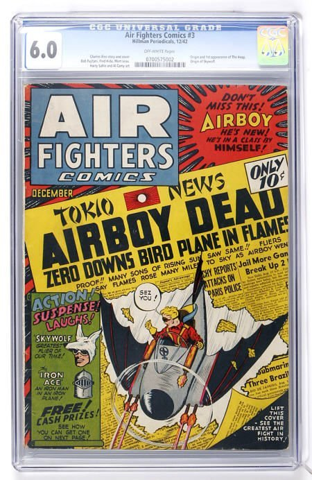 91005: Air Fighters Comics #3 (1942) CGC 6.0