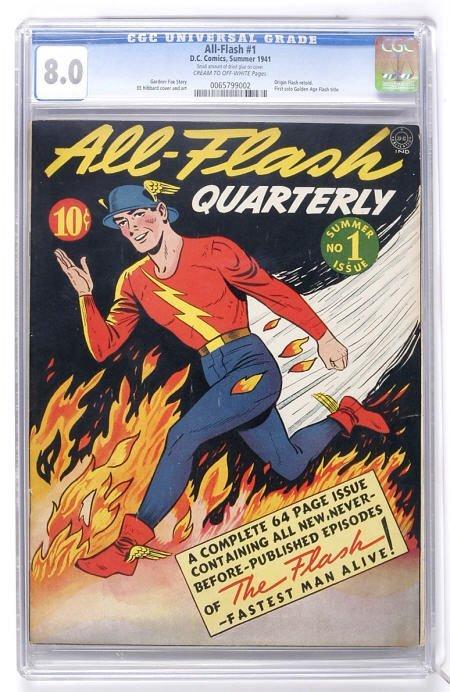 91007: All-Flash #1 (DC, 1941) CGC VF 8.0