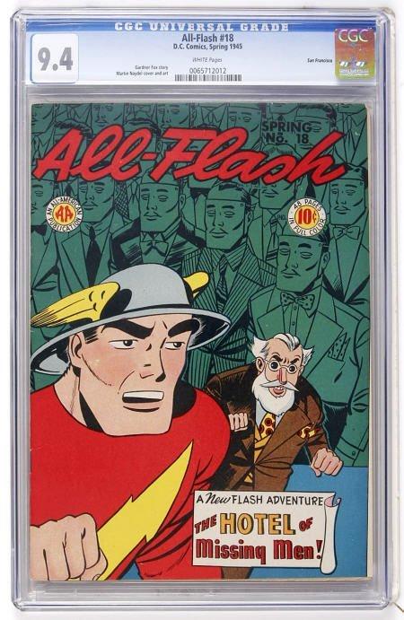 91008: All-Flash #18 San Francisco (DC, 1945) CGC 9.4