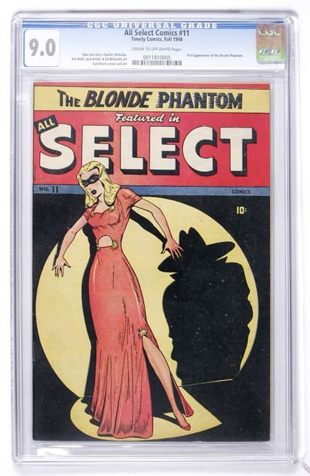 91009: All Select Comics #11 (Timely, 1946) CGC 9.0