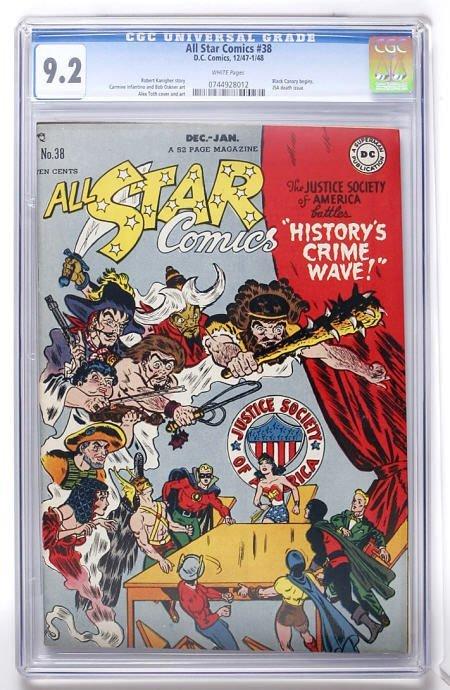 91012: All Star Comics #38 (DC, 1947) CGC NM- 9.2 White