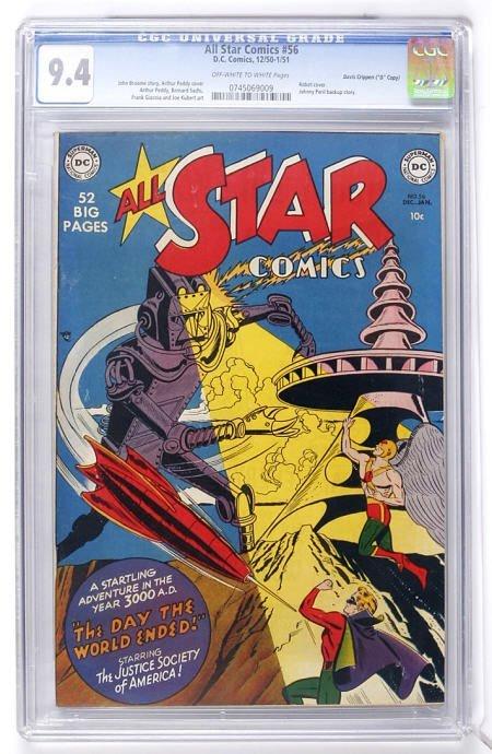 """91014: All Star Comics #56 (""""D"""" Copy) CGC 9.4"""
