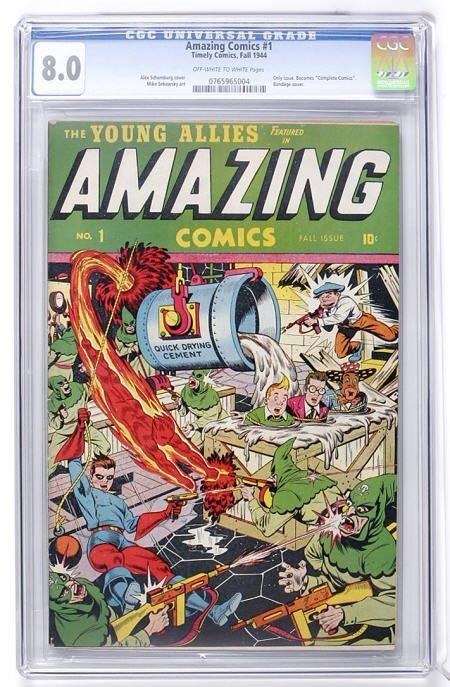 91015: Amazing Comics #1 (Timely, 1944) CGC VF 8.0