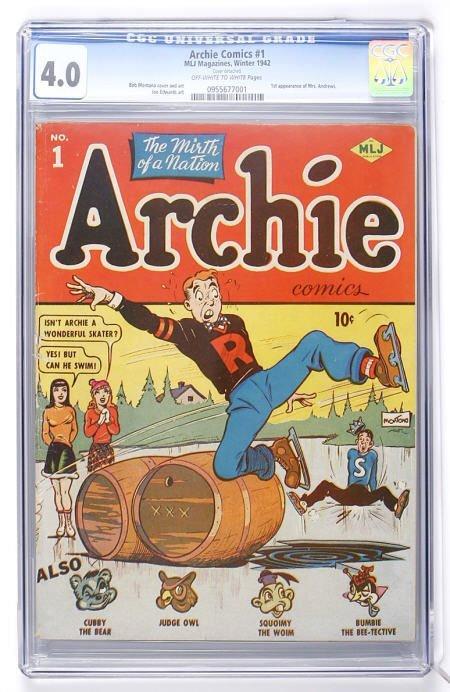 91016: Archie Comics #1 (Archie, 1942) CGC VG 4.0