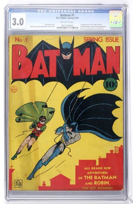 91017: Batman #1 (DC, 1940) CGC GD/VG 3.0 Off-white