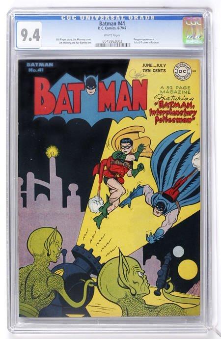 91020: Batman #41 (DC, 1947) CGC NM 9.4 White pages