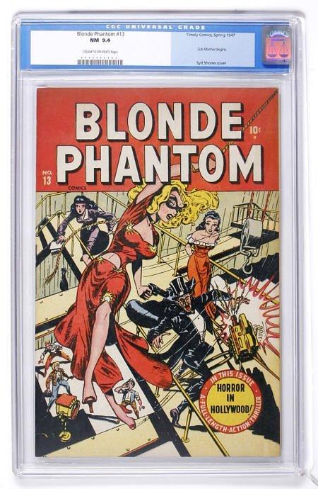 91023: Blonde Phantom #13 (Timely, 1947) CGC NM 9.4