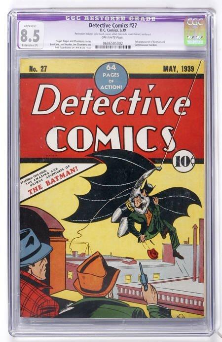 91046: Detective Comics #27 (DC, 1939) CGC Apparent 8.5