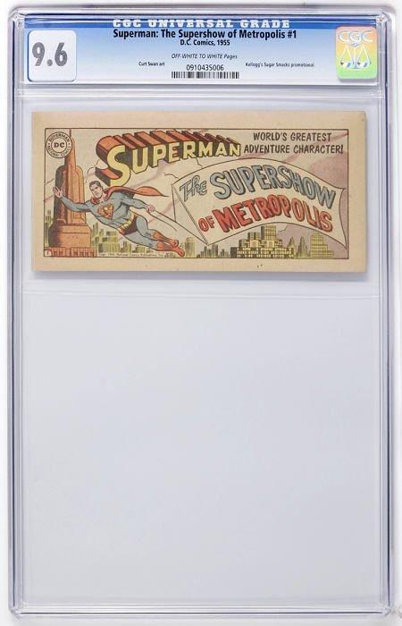 91183: Superman #1B Supershow of Metropolis CGC 9.6