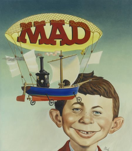 92004: Bob Clarke The Worst From Mad #8 Cover Painting