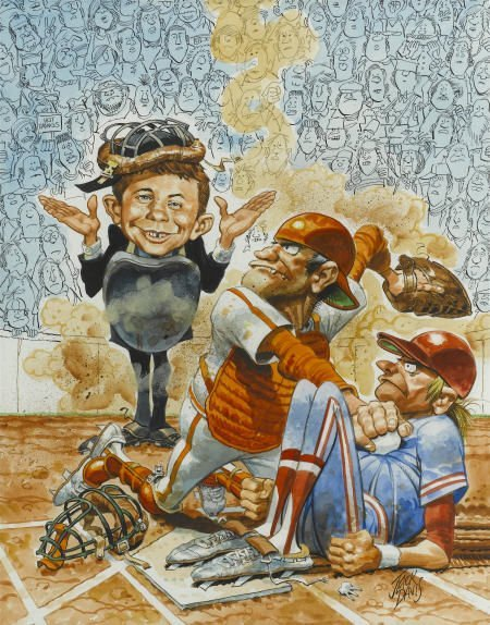 92005: Jack Davis Mad #296 Cover Painting Original Art