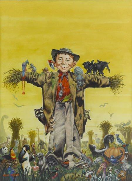 92007: Kelly Freas Mad #43 Cover Original Art 1958