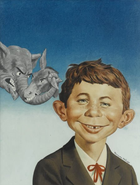 92010: Norman Mingo Mad #30 Cover Painting Original