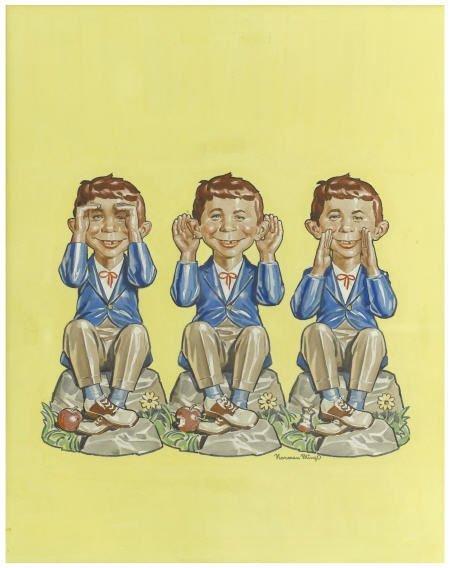 92013: Norman Mingo Mad #36 Cover Original Art 1957