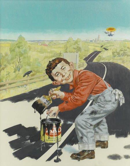 92015: Norman Mingo Mad #96 Cover Painting Original Art