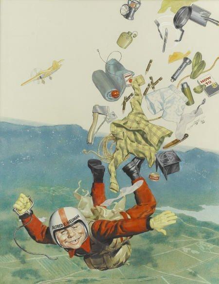 92016: Norman Mingo Mad #106 Cover Painting Original