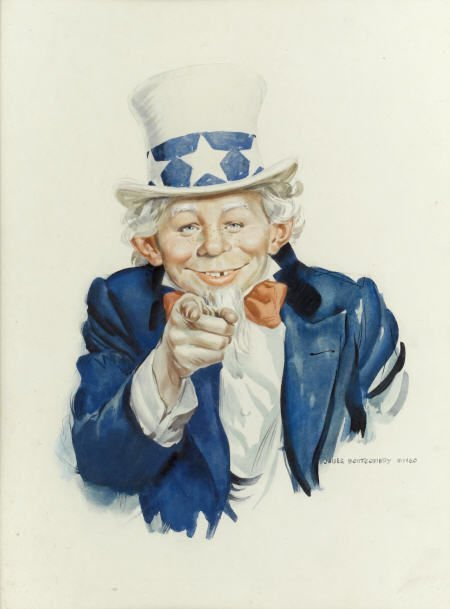 92017: Norman Mingo Mad #126 Cover Painting Original