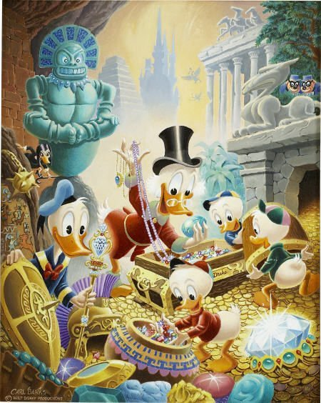 92122: Carl Barks Wanderers of Wonderlands Painting