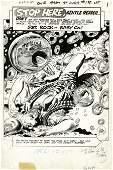 92330: Joe Kubert Our Army at War #198, Splash Page Art