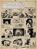 92247: Burne Hogarth Tarzan Sunday Comic Original Art