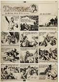 92248: Burne Hogarth Tarzan Sunday Comic Original Art