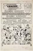 Mike Sekowsky Justice League # 4, pg. 1 Art 1961