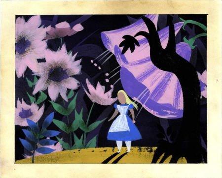 92507: Mary Blair Alice in Wonderland Concept Art 1951