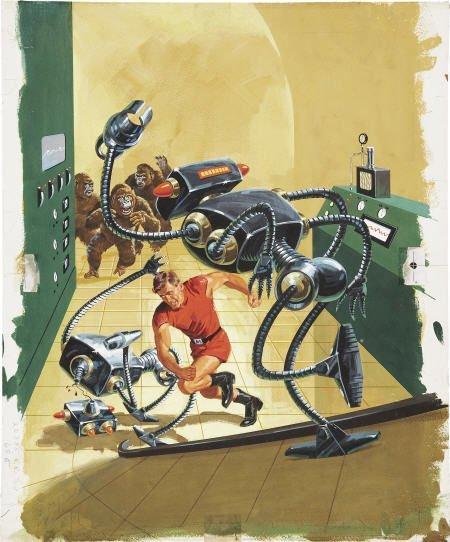 92477: Vic Prezio Magnus #11 Painted Cover Art 1965