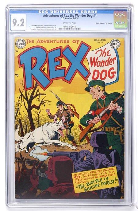 93001: Adventures of Rex the Wonder Dog #4 CGC 9.2