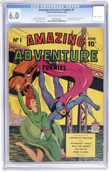 93003: Amazing Adventure Funnies #1 (Centaur) CGC 6.0