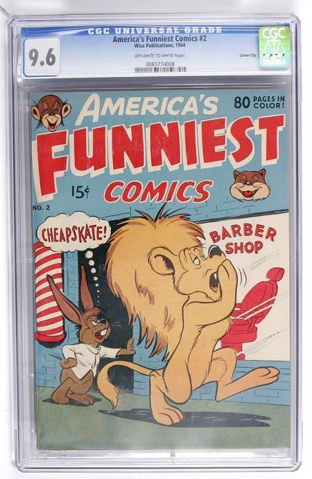 93004: America's Funniest Comics #2 CGC NM+ 9.6