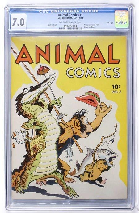 93005: Animal Comics #1 File Copy (1942) CGC 7.0