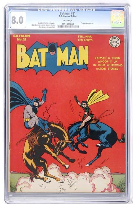 93008: Batman #21 (DC, 1944) CGC VF 8.0.