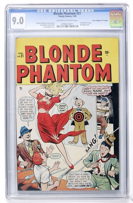 "93009: Blonde Phantom #21 ""D"" Copy (1949) CGC 9.0"