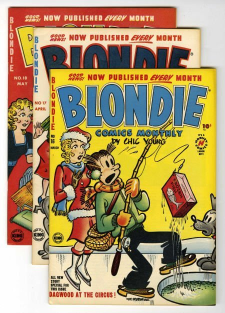 93010: Blondie Comics File Copies Box Lot Average VF