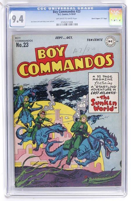 """93015: Boy Commandos #23 Davis Crippen """"D"""" Copy CGC 9.4"""