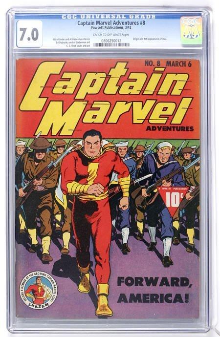 93018: Captain Marvel Adventures #8 (1942) CGC 7.0